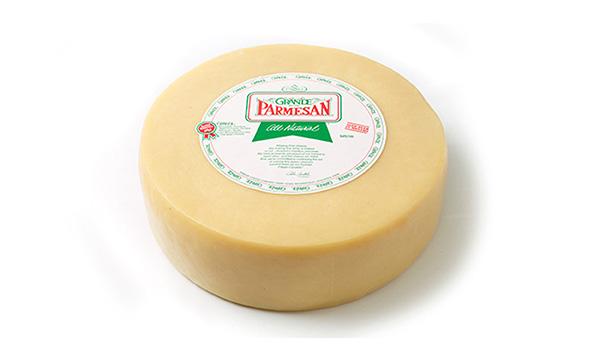 00874-Grande Parmesan Wheel-White Wax Approx. 24lb