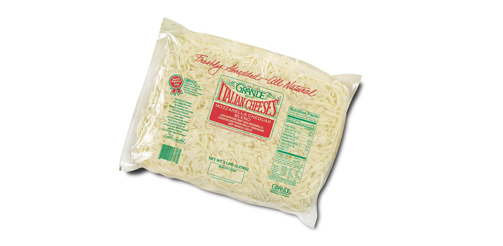 Mozzarella Cheddar Blend Cheese Shredded